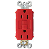 Red GFCI Electrical Outlet 15A