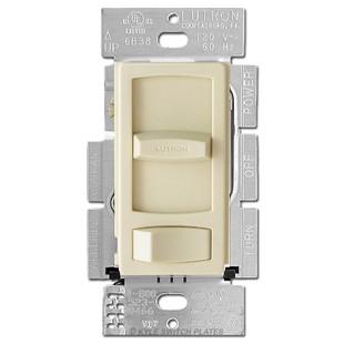 light switch for dimmable cfl led bulbs ivory lutron skylark. Black Bedroom Furniture Sets. Home Design Ideas