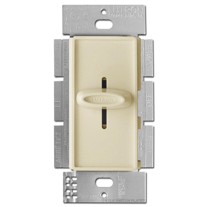 ivory lutron sliding dimmer 600w skylark kyle switch plates. Black Bedroom Furniture Sets. Home Design Ideas