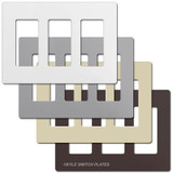 3 Decor Plastic Screwless Wall Cover Plates Lutron