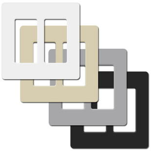 2 decor screwless plastic wall switch plate covers lutron. Black Bedroom Furniture Sets. Home Design Ideas