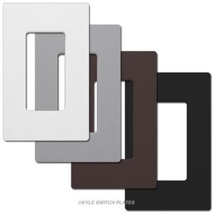 1 decor screwless plastic light switch covers lutron. Black Bedroom Furniture Sets. Home Design Ideas