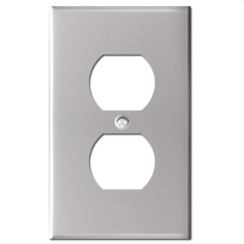 Metal Electrical Outlet Covers Oversized Outlet Covers: 1 Duplex Outlet Electrical Cover Plate