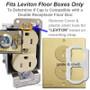 Replacement Caps for Leviton Brand Floor Box Receptacles