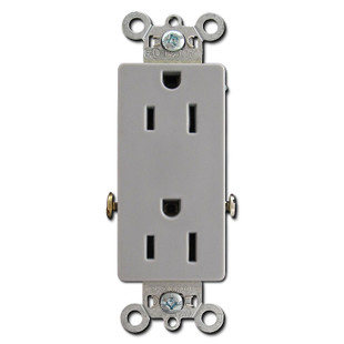 Grey 15A Decorator Outlets - Spec Grade