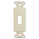 Ivory Decorator to Toggle Switch Opening Inserts for Cover Plates