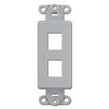 Gray Leviton 2 Port Frames for Modular Jack Adapters