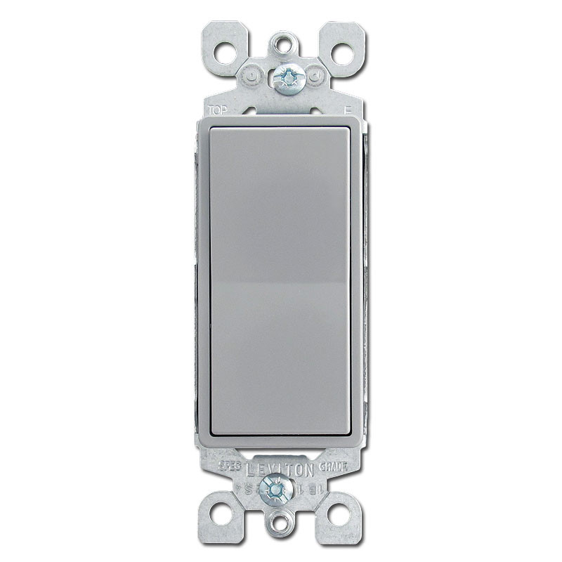 Gray 15 amps decora rocker switches kyle switch plates for Decora light switches