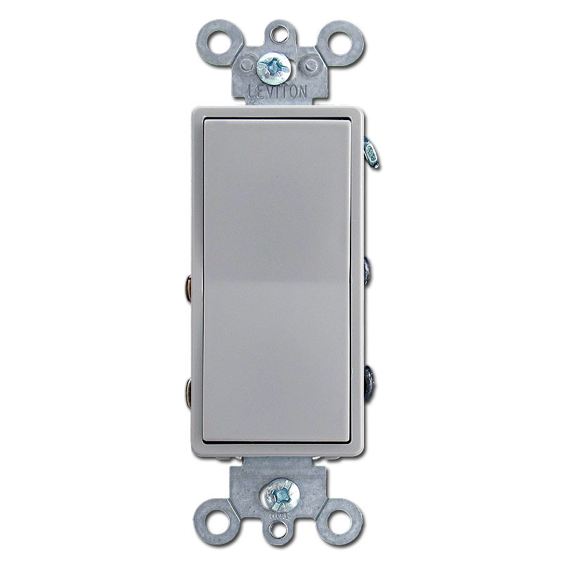 Gray 4 way decora switch kyle switch plates for Decora light switches