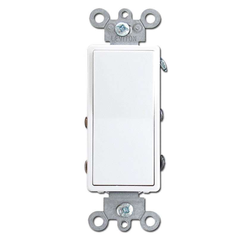 White 4 way decora rocker light switches kyle switch plates for Decora light switches