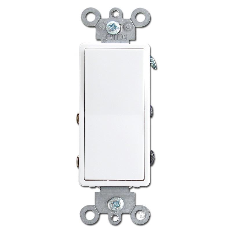 White 4 way illuminated decora rocker switches leviton for Decora light switches