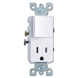 White Combo Decora Switch - Electrical Receptacle