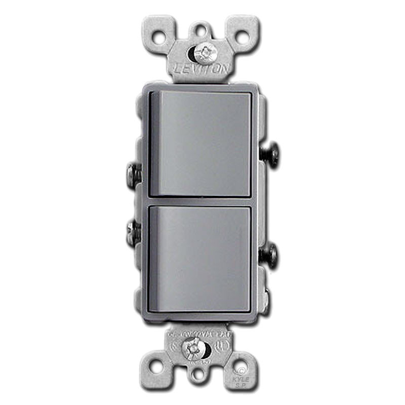 Gray dual stacked decora rocker switch kyle switch plates