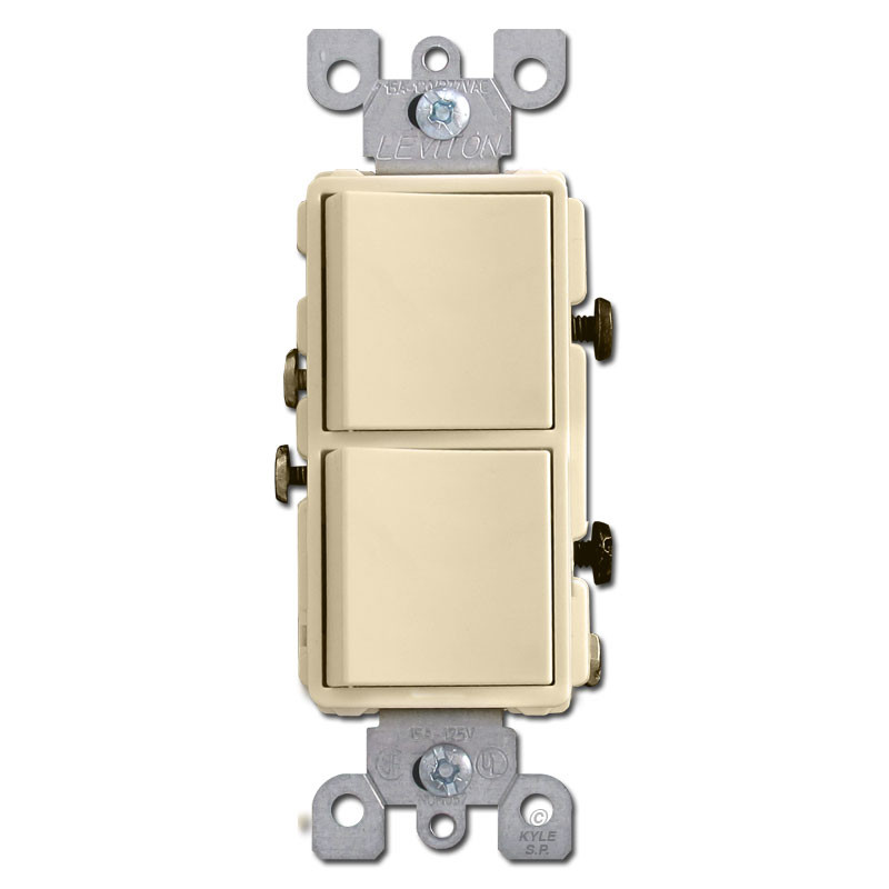 Ivory 2 decora rocker switches kyle switch plates for Decora light switches
