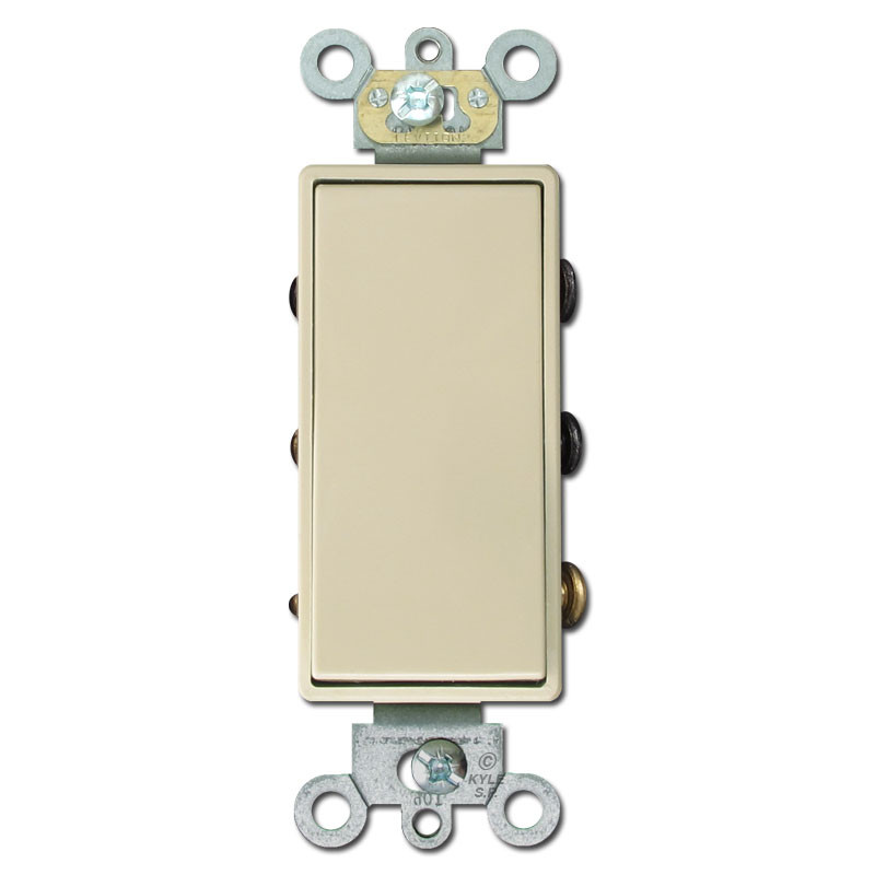 Ivory Double Pole Double Throw Maintained Decora Switch