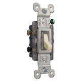 3-way Lighted Ivory Toggle Switch