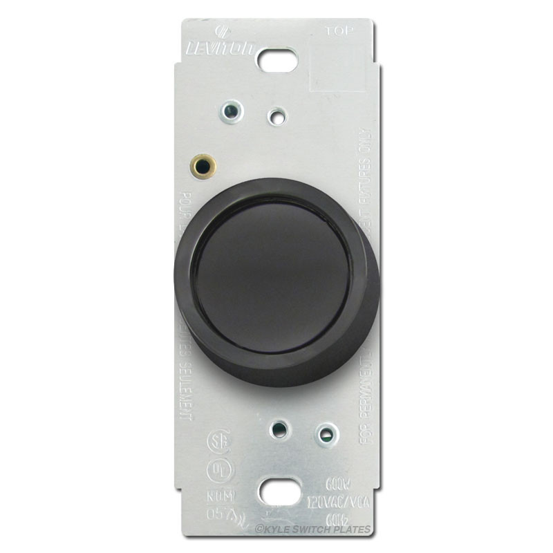 leviton black rotary dimmer switch kyle switch plates. Black Bedroom Furniture Sets. Home Design Ideas