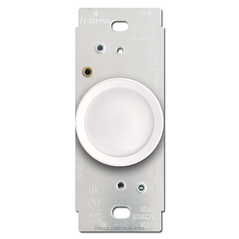 white leviton rotary light dimmer switch kyle switch plates. Black Bedroom Furniture Sets. Home Design Ideas
