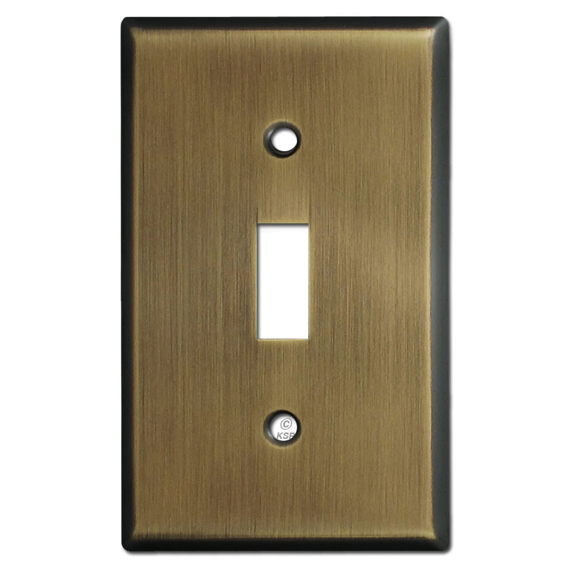 1 Toggle Switch Plate Covers Antique Brass Kyle Switch