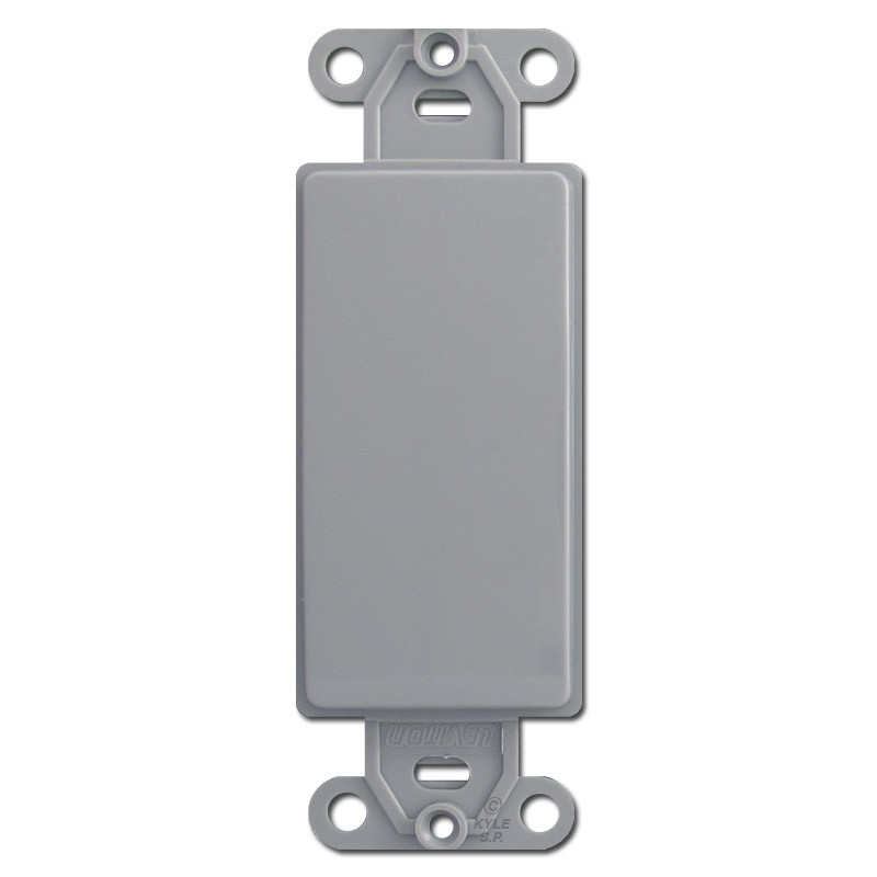 Gray decora to blank switch plate inserts kyle switch plates for Decora light switches