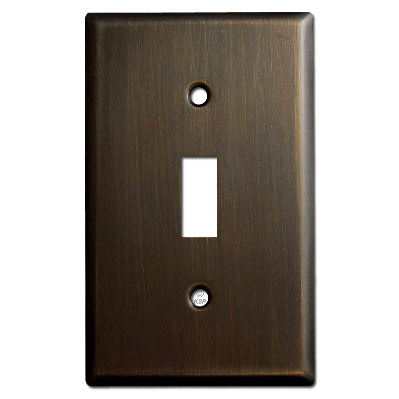 1 Toggle Light Switch Plates - Oil Rubbed Bronze - Kyle Switch Plates