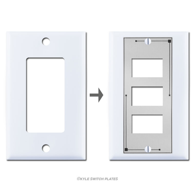 Low Voltage Grommet : Ge old style switch low voltage rocker wall plate overlay