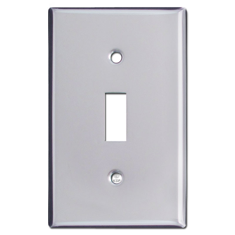 Single Toggle Light Switch Covers Polished Chrome Kyle