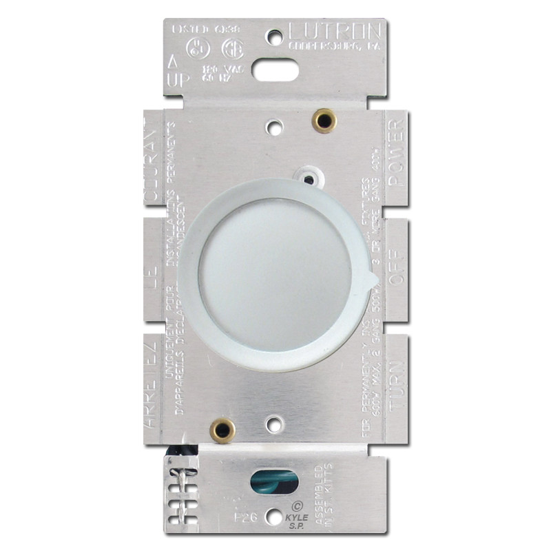 lutron chrome rotary dimmer light switch kyle switch plates. Black Bedroom Furniture Sets. Home Design Ideas