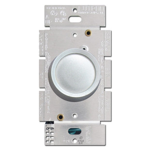 lutron silver rotary light dimmer switch kyle switch plates. Black Bedroom Furniture Sets. Home Design Ideas