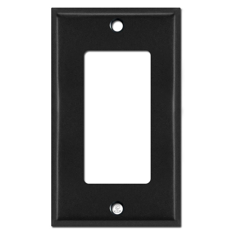1 decora light switch plate covers black kyle switch for Decora light switches