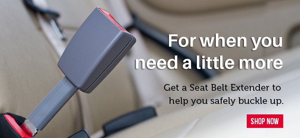 Seat Belt Extenders help you safely buckle up.