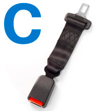 Type C Car Seat Belt Extender