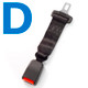 Type D Car Seat Belt Extender