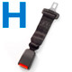 Type H Car Seat Belt Extender