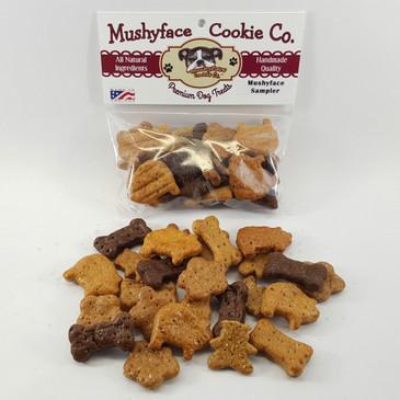 Mushyface Sampler. 5 of Mushyface Cookies' best flavors in one bag