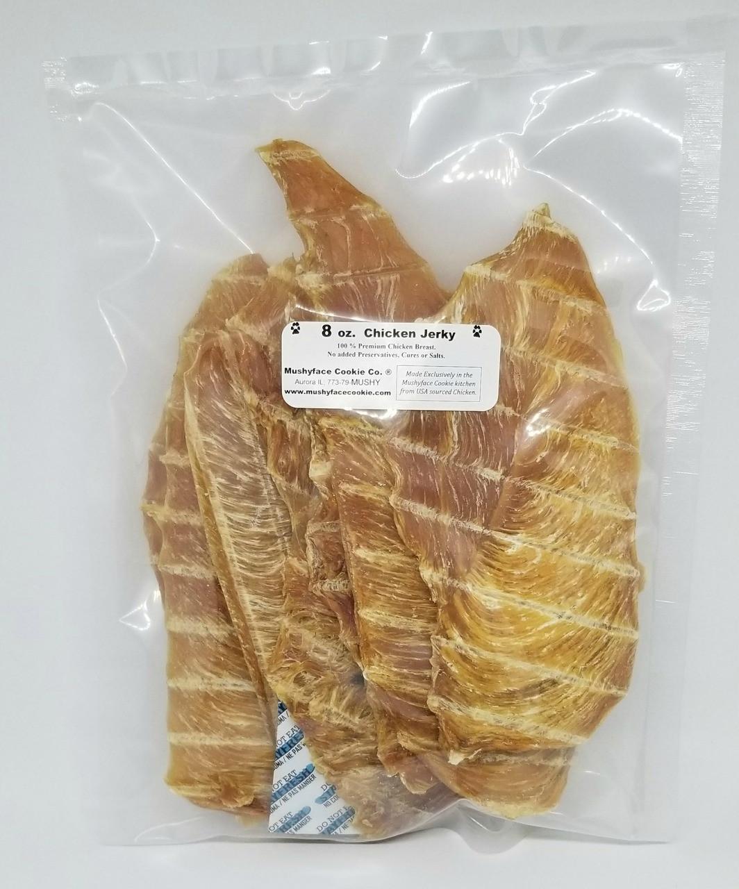 Reverse side of 8 oz. Chicken Jerky Bag