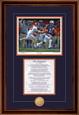 Print-Poem shown with Walnut Frame - Navy/Orange matting