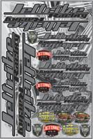 "Decal Jettribe Racing 12""x18"" Sheet Grey PWC Jetski Ride & Race"