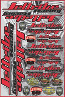 """JTA 15320-RD Decal Jettribe Core Red 12"""" x 18"""" Decal Sheet"""