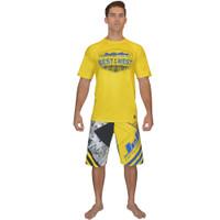 B.O.W. Men's Performance Tee Yellow PWC Jetski Ride & Race Shirt