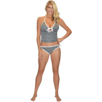 Tankini Top Grey / White PWC Jetski Ride & Race Jet Ski Apparel