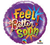 Feel Better Purple Balloon 18""