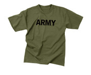 Olive Drab Military Physical Training Army T Shirt - View