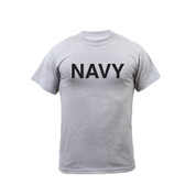 Grey Physical Training Navy T Shirt - Front View