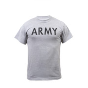 Grey Physical Training Army T Shirts - Front View