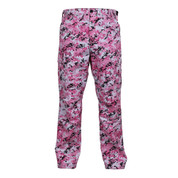 Pink Digital Camo BDU Fatigue Pants - Front View