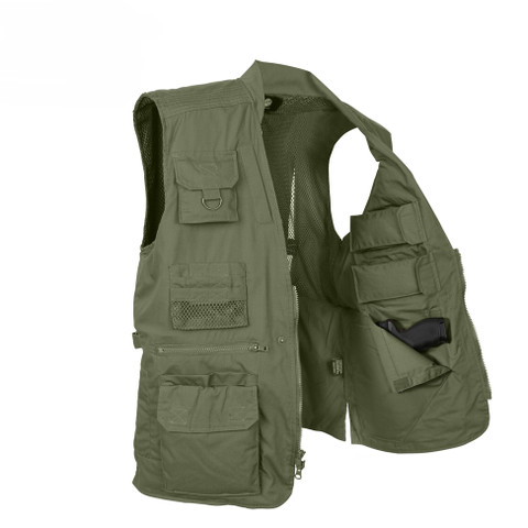 Plainclothes Concealed Carry Vest - Open Inside View