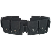Gi Style Black 10 Pocket Canvas Cartridge Belt