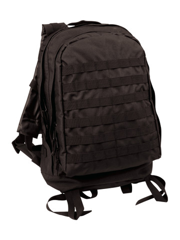 Black MOLLE 3 Day Assault Pack - Front View