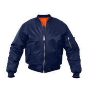 Kids Navy Blue MA-1 Flight Jackets